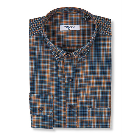 Antoninus Checked Shirt // Blue + Multicolor (XS)