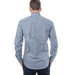 Vitellius Slim Fit Check Shirt // Blue (XL)
