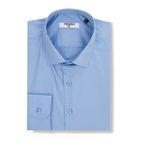 Honorius Slim Fit Cotton Shirt // Blue (XS)