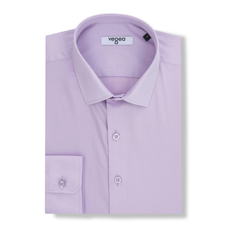 Majorian Slim Fit Cotton Shirt // Purple (XS)