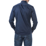 Joannes Slim Fit Cotton Shirt // Blue (L)