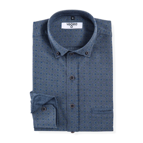 Vetranio Flannel Shirt // Blue (XS)