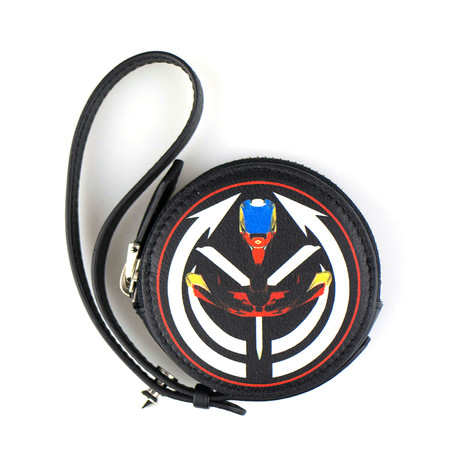 Men's Leather Tribal Print Coin Pouch // Multi-Color