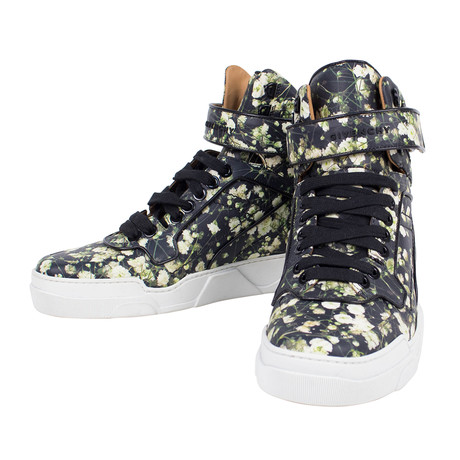 Floral Print Tyson High-Top Sneakers // Multi-Color (US: 6)