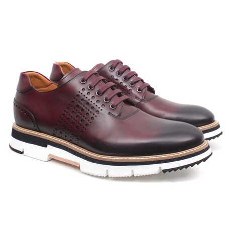Bordo Scala Detailed Sneaker // Claret Red (Euro: 40)
