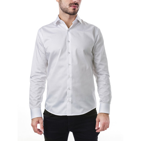 Augustus Slim Fit Cotton Shirt // White (XS)