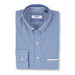 Titus Slim Fit Check Shirt // Blue (S)