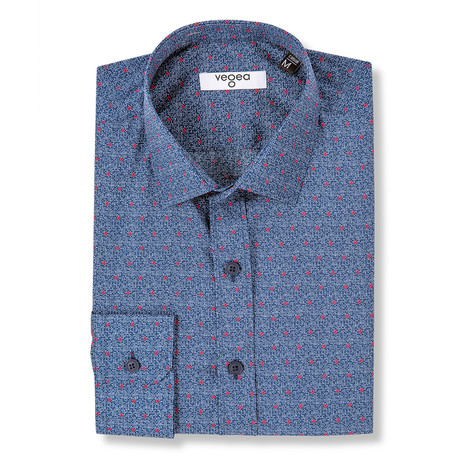 Pertinax Slim Fit Print Shirt // Blue (XS)