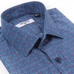 Pertinax Slim Fit Print Shirt // Blue (S)