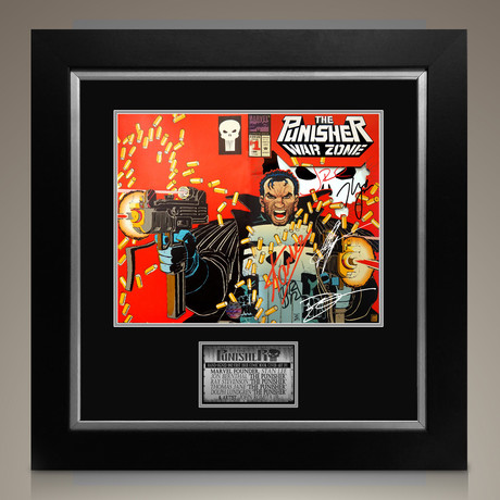 The Punisher War Zone #1 1992 // Stan Lee + John Romita Jr.+ Thomas Jane + Dolph Lundgren + Jon Bernthal + Ray Stevenson Signed Comic Covert Art // Custom Frame (Signed Comic Book Only)
