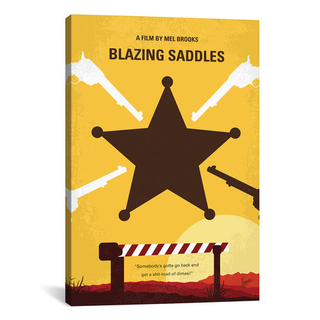 "Blazing Saddles (26""W x 18""H x 0.75""D)"
