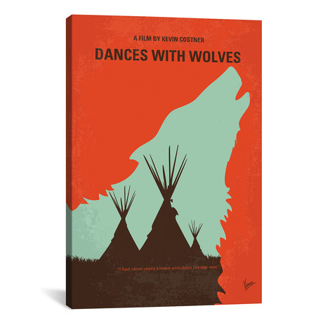 "Dances With Wolves (26""W x 18""H x 0.75""D)"