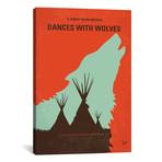 """Dances With Wolves (26""""W x 18""""H x 0.75""""D)"""