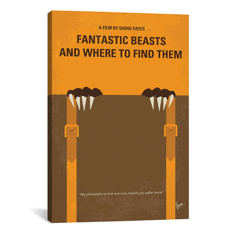 "Fantastic Beasts And Where To Find Them (26""W x 18""H x 0.75""D)"