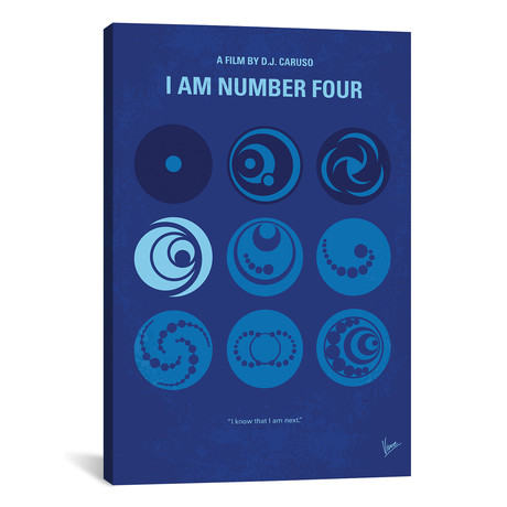 "I Am Number Four (26""W x 18""H x 0.75""D)"
