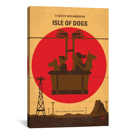 "Isle Of Dogs (26""W x 18""H x 0.75""D)"