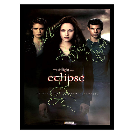 Signed + Framed Poster // Twilight Eclipse