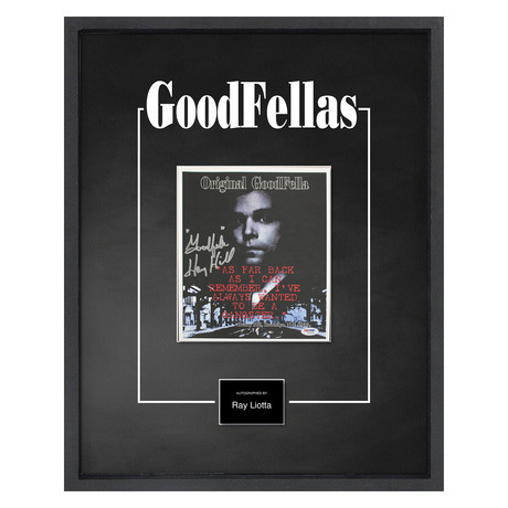 Signed + Framed Artist Series // Goodfellas // Henry Hill