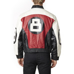 8-Ball Bomber // Black + Red + White (S)