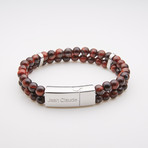 Jean Claude Jewelry // Double Wrap Bead Bracelet (Lava)