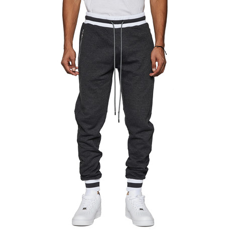 Varsity Fleece Tonal Track Jogger // Heather Charcoal (S)
