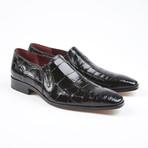 Bellini Alligator Leather Loafer // Black (US: 7.5)