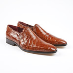 Bellini Alligator Leather Loafer // Cognac (US: 7.5)