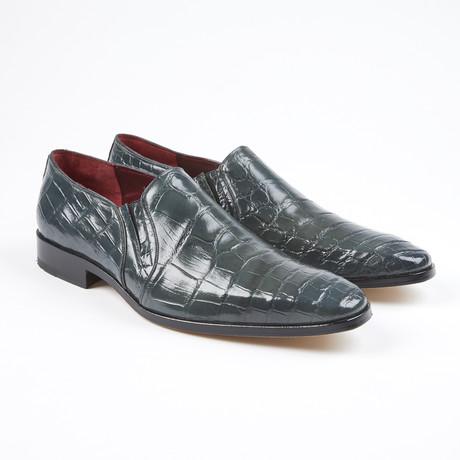 Bellini Alligator Leather Loafer // Gray (US: 7.5)