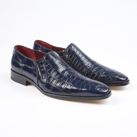 Bellini Alligator Leather Loafer // Navy (US: 7.5)