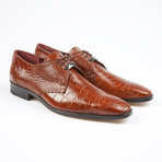 Bravo Alligator Leather Lace-Up // Cognac (US: 7.5)