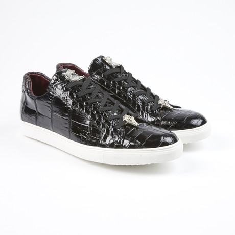 Lucio Alligator Leather Sport Shoe // Black (US: 7.5)