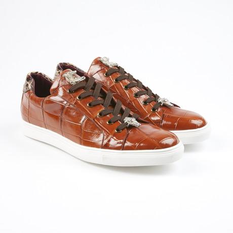 Lucio Alligator Leather Sport Shoe // Cognac (US: 7.5)