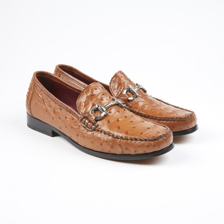 Struzzo Ostrich Leather Loafer // Cognac (US: 7)