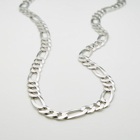 "Thick Diamond Cut 3+1 Figaro Chain Necklace // 7.5mm (20""L)"