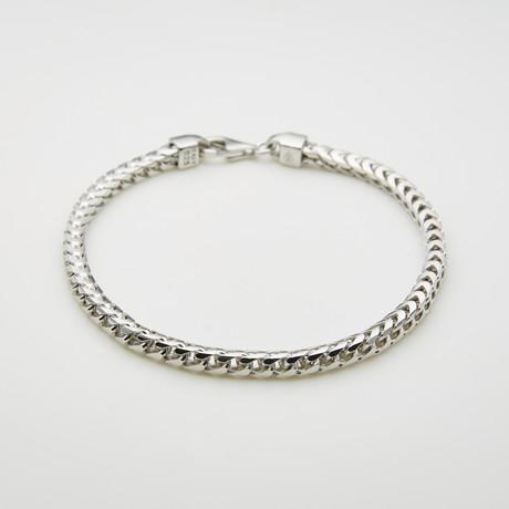 """Thick Franco Chain Bracelet // 3.7mm // 8.5""""L"""