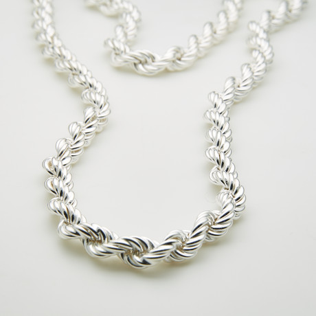 """Thick Twisted Rope Chain // 7mm (24""""L)"""