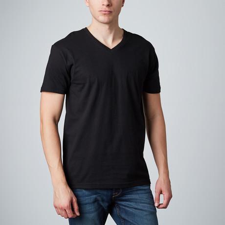 Basic V-Neck // Black (S)