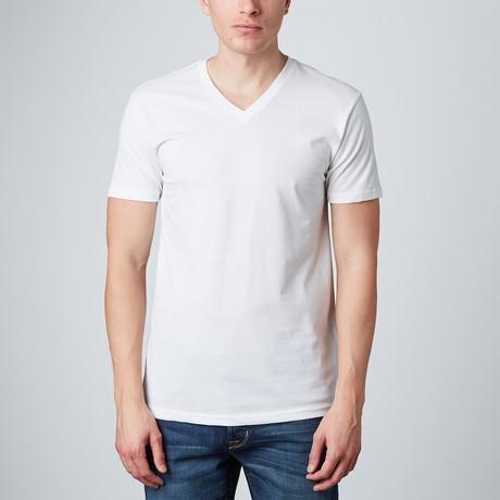 Basic V-Neck // White (S)