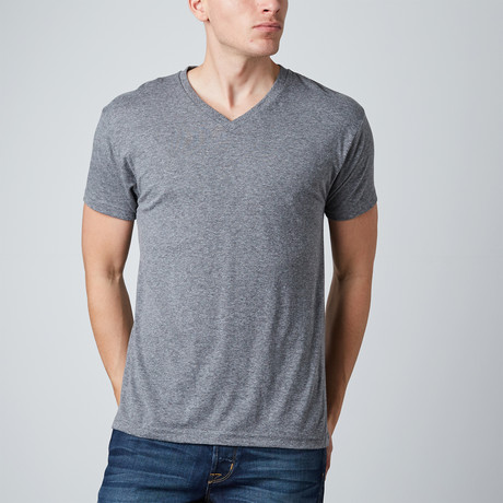 Classic Tri-Blend V-Neck // Heather Grey (S)