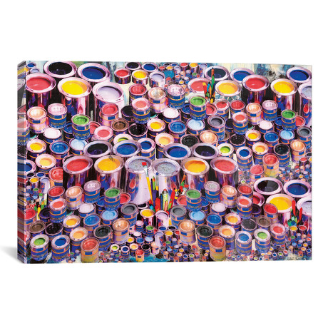 "Paint Can Ensemble (18""W x 26""H x 0.75""D)"