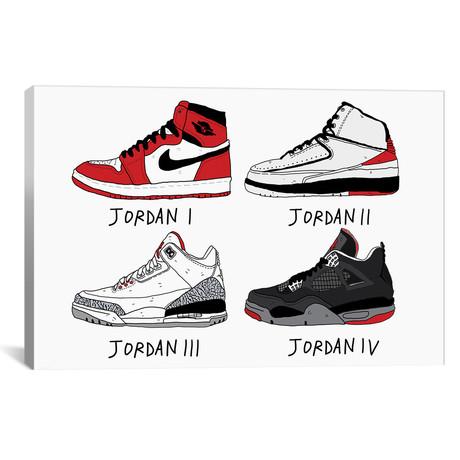 """Jordans // Nick Cocozza (26""""W x 18""""H x 0.75""""D)"""