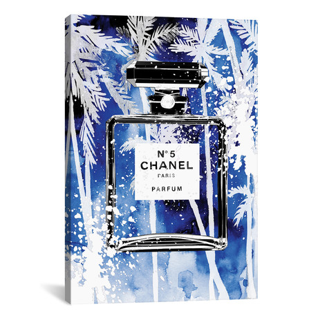 "Blue Palms Chanel // Mercedes Lopez Charro (18""W x 26""H x 0.75""D)"