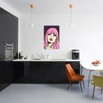 "Pink Hair Crying Comic Girl // Allyson Gutchell (26""W x 18""H x 0.75""D)"