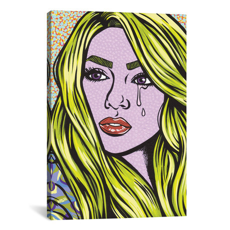 "Blonde Crying Comic Girl // Allyson Gutchell (26""W x 18""H x 0.75""D)"