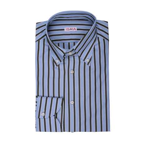 Isaia // Vera Striped Dress Shirt // Multicolor (US: 15.5R)