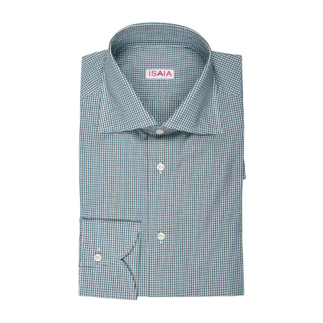 Aria Checked Dress Shirt // Green + Blue (US: 15R)