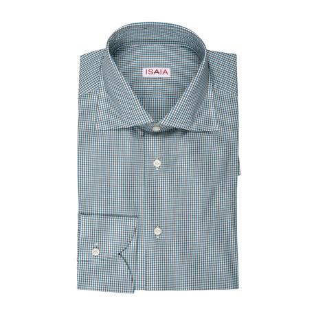 Aria Checked Dress Shirt // Green + Blue (US: 15R)