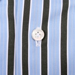 Isaia // Vera Striped Dress Shirt // Multicolor (US: 15.5R)