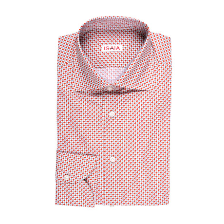 Dante Geometric Dress Shirt // Red (US: 15R)