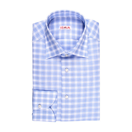 Leondardo Checked Dress Shirt // Blue (US: 15R)